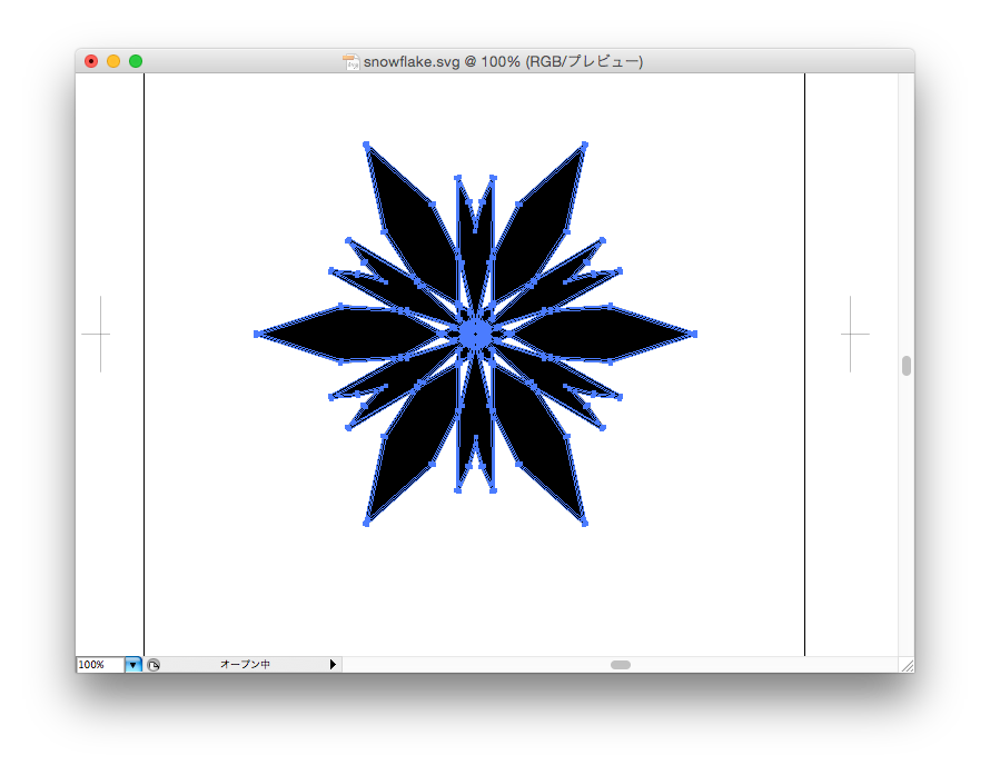snowflake in Illustrator
