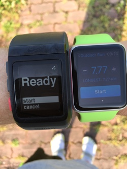 Apple Watch and Nike+ SportWatch GPS: Start