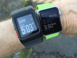 Apple Watch and Nike+ SportWatch GPS